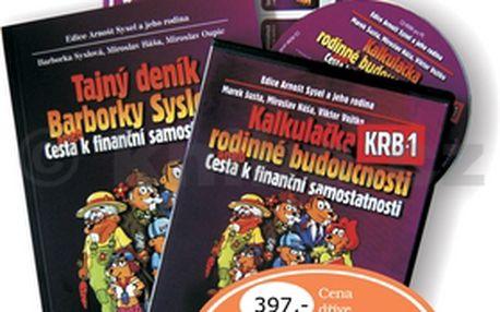 Komplet 2ks Tajný deník Barborky Syslové + CD Kalkulačka rodinné