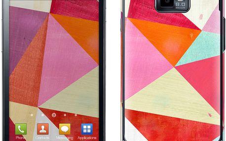 Samolepka na Samsung S II, Pink Triangle