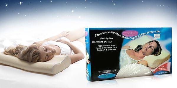 Anatomicky tvarovaný polštář pro podporu krční páteře a pohodlný spánek