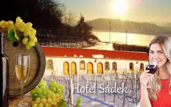Pobyt pro milovníky vína! Ubytování pro 2 osoby na 3 dny v útulném vinařském komplexu sádek za pouhých 2190 kč! V ceně zahrnuta polopenze, degustace jakostních vín z tamních sklepů a relaxační masáž pro oba!