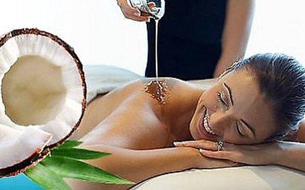 Úžasný relaxační balíček s Bali kokosovou indonéskou masáží, šampaňským a aroma lázní