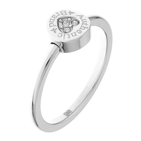 Dámský stříbrný prsten s kamínky Guess