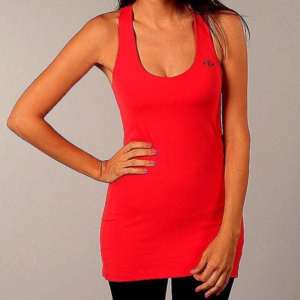 Dámské korálově červené dlouhé triko Naffta