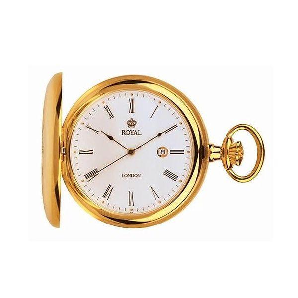 Pozlacené kapesní ocelové hodinky Royal London