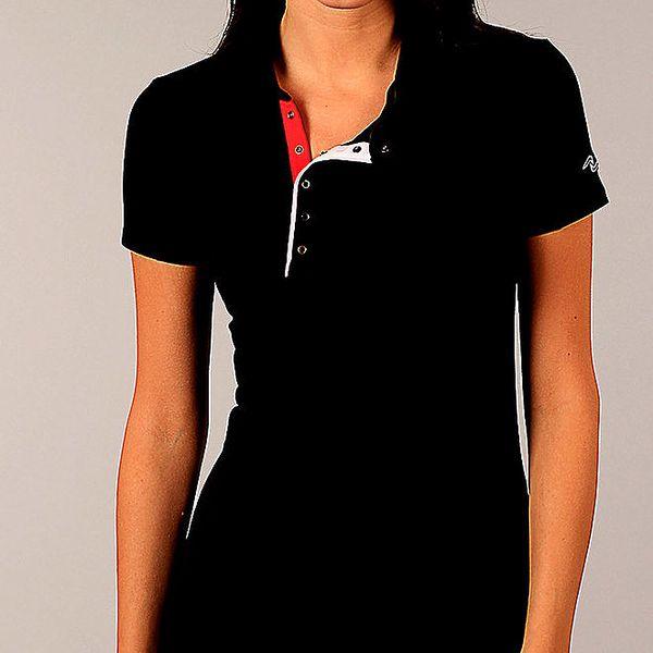Dámské černé tričko s knoflíčky Naffta