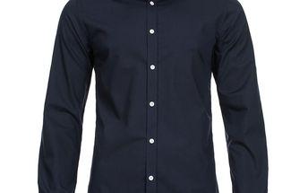 Pánská košile Selected tmavě modrá na knoflíky