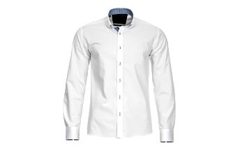 Pánská košile Selected bílá kostičkovaný lem