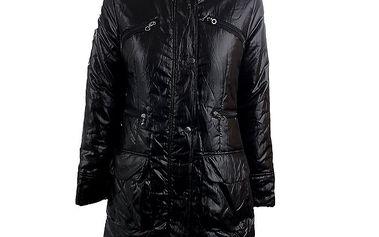 Dámský černý kabát s límečkem Quo Vadis