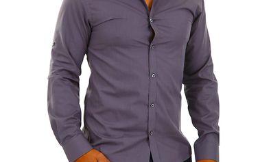 Pánská košile Selected šedá