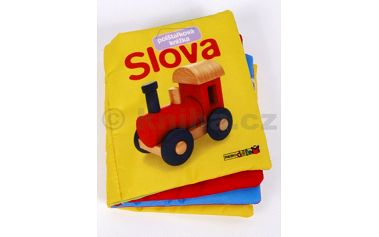 Slova Polštářková knížka - určena pro nejmenší k poučení s jednoduchými obrázky