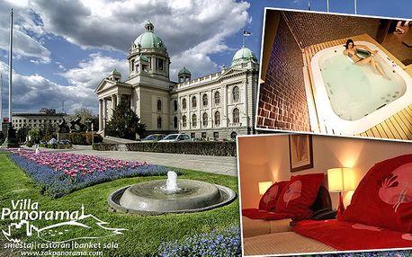 3denní pobyt pro dva v hotelu Villa Panorama v Bělehradu