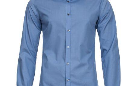 Pánská košile Selected modrá na knoflíky