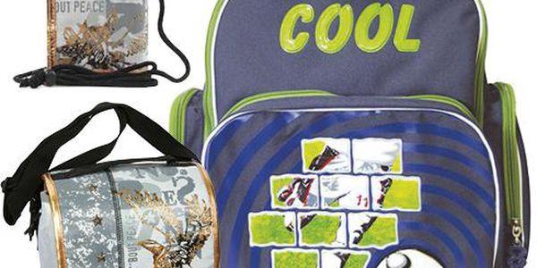 Školní batoh Cool trolley set motiv Eagle: penál, peněženka, taška svačinářka