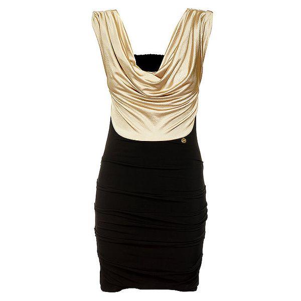 Dámské černo-zlaté šaty Phard