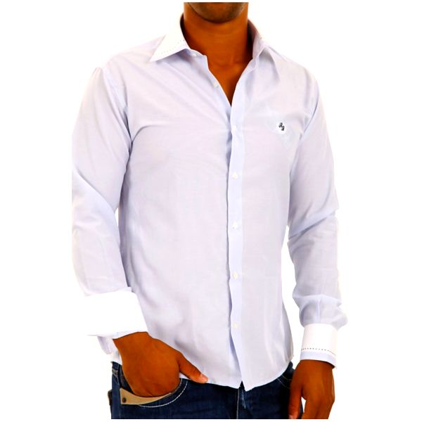 Pánská košile Redbridge bílá s nádechem modré