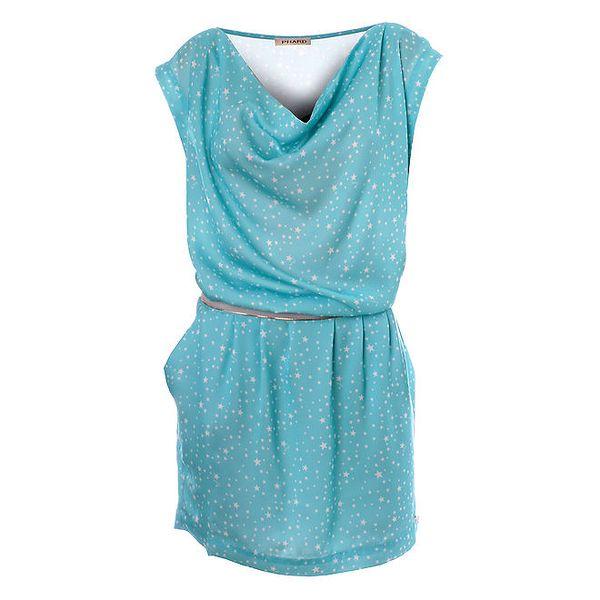 Dámské světle modré puntíkované šaty Phard