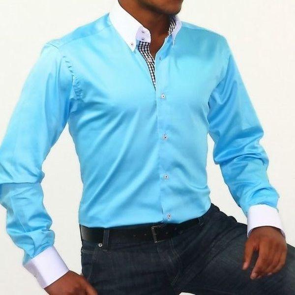 Luxusní pánská košile Binder 808-06 tyrkysová