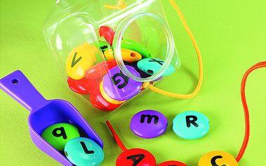 ABC lentilky - barevné korálky s abecedou