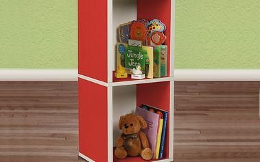 "Ekologický nábytek - Kostka ""Plus"" červená"
