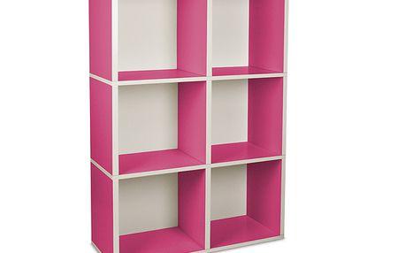 "Ekologický nábytek - Regál ""Tribeca"" růžový"