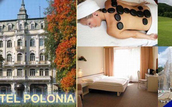 Pobyt na 3 dny pro 2 osoby v hotelu Polonia*** s plnou penzí v centru města přímo naproti parku s kolonádou a Zpívající fontánou. Užijte si dovolenou v perle českého lázeňství!