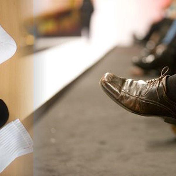 Složení materiálu ponožek zaručuje udržení příjemného tepla i stálosti ponožky po opakovaném praní.