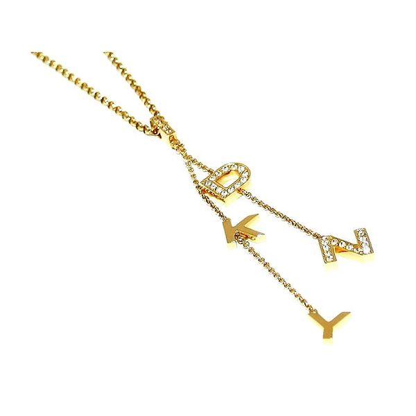Dámský ocelový náhrdelník s písmenky DKNY