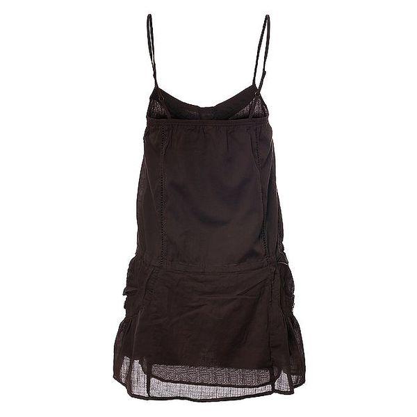 Dámské tmavě hnědé šaty Timeout