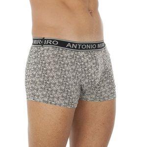 Pánské šedo-černé boxerky Antonio Miro