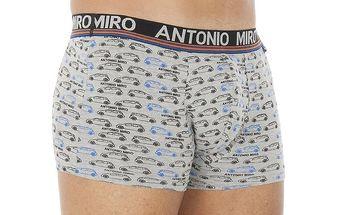 Pánské šedé vzorované boxerky Antonio Miro