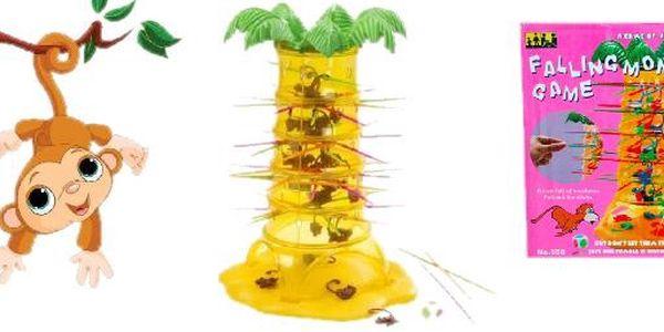 Společenská hra Falling Monkey za bezva cenu 149 Kč! Zábava pro celou rodinu včetně těch nejmenších !!! Opatrně, nenechte opičky spadnout z palmy!