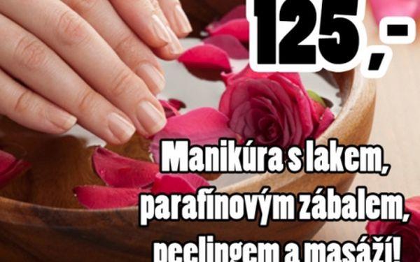 MANIKÚRA s lakováním + parafínový zábal + PEELING + masáží rukou!!! Krásné ruce a nehty ze salonu ISIS!!!
