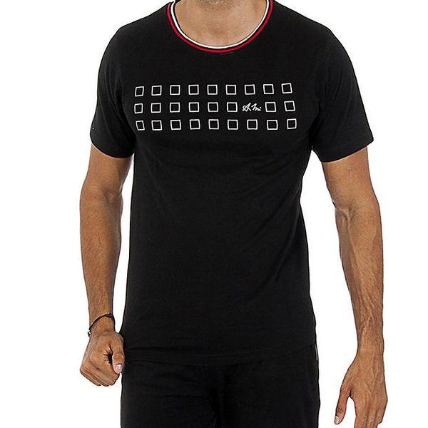 Pánské černé tričko s potiskem Antonio Miro