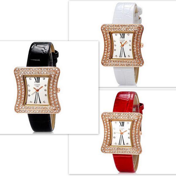 Dámské hodinky s netradičně tvarovaným ciferníkem - ve 3 barvách a poštovné ZDARMA! - 283