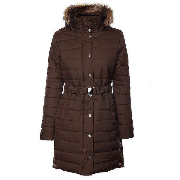 Dámský tmavě hnědý zimní prošívaný kabátek Trimm Loana