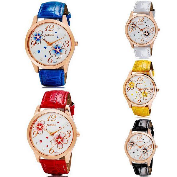 Dámské hodinky WOMAGE zdobené motivem květin - v 5 barvách a poštovné ZDARMA! - 29505492