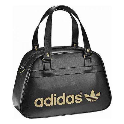 Dámská černá kabelka se zlatým nápisem Bow Bag