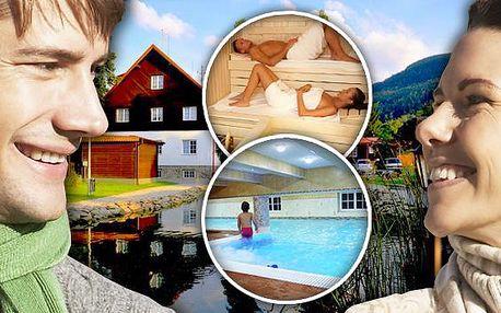 Beskydský wellness resort se saunou a vnitřním bazénem. Bazén s léčivou mořskou vodou a sauna po celý pobyt zdarma v Mountain resortu Morávka. Prožijte podzim v vrcholů Beskyd a užívejte si relax až do prosince 2013!
