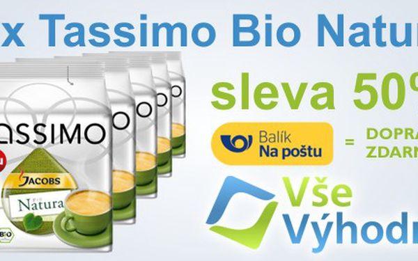 5x16 kapslí Tassimo Jacobs Bio Natura. Kvalitní certifikovaná káva Jacobs.