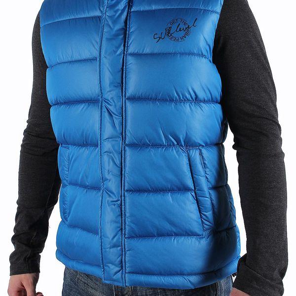 Pánská vesta značky Sublevel s praktickou kapucí do nepříznivého počasí