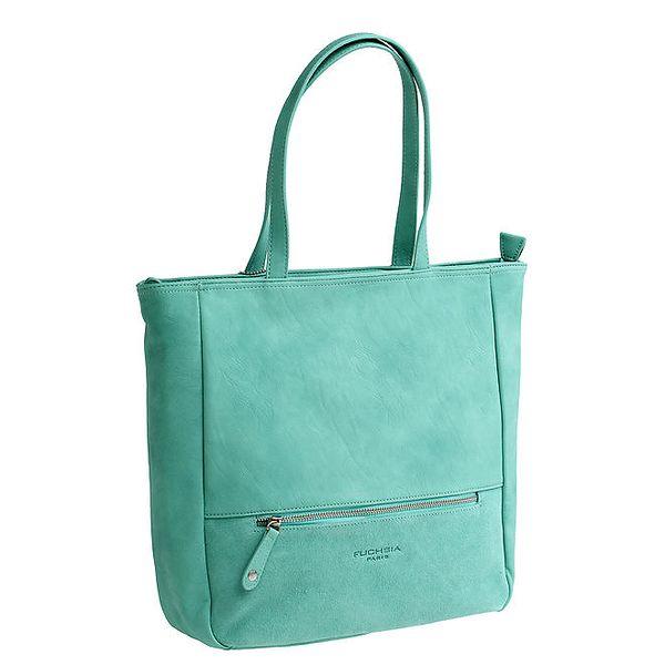 Dámská zelená kabelka se dvěma uchy Fuchsia