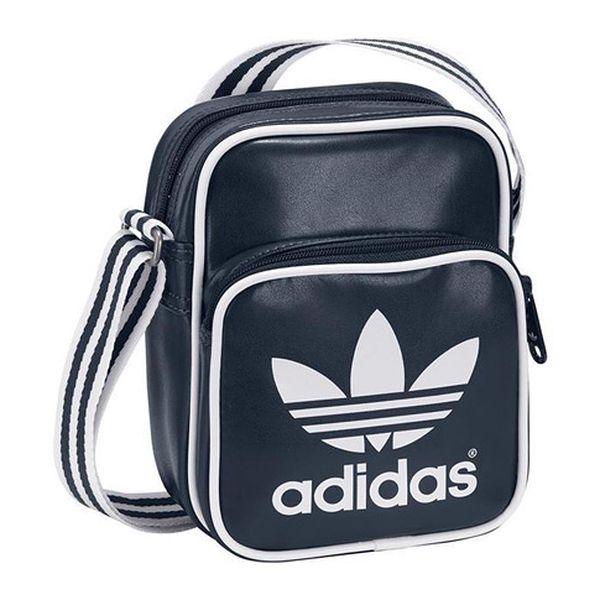 Modrá taška s bílým potiskem AC mini Bag