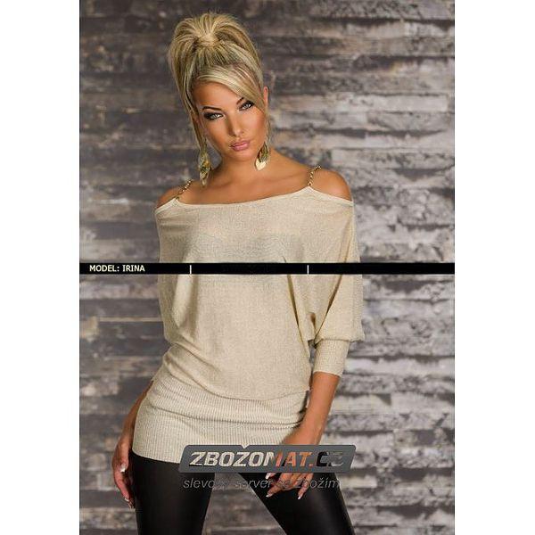 Elegantní svetr s holými rameny