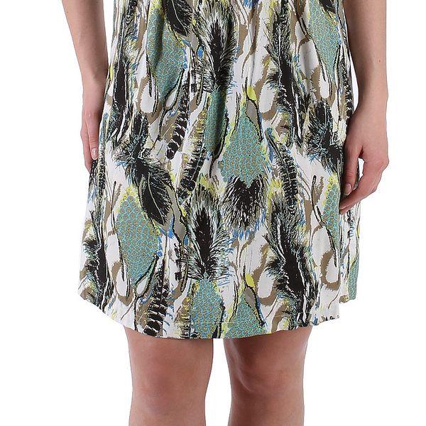 Dámské šaty značky Next s abstraktním vzorováním s širšími krátkými rukávy