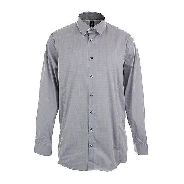 Pánská šedá obleková košile se vzorkem Pietro Filipi