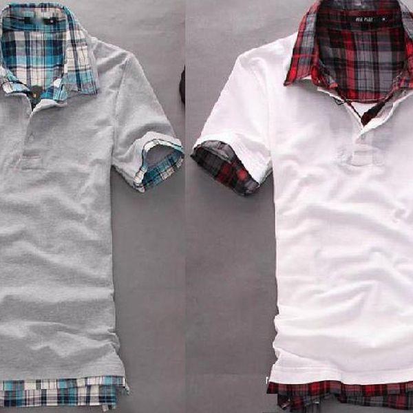 Pánské polo tričko s kostkovaným límečkem a rukávy - 2 barvy a poštovné ZDARMA! - 29505501
