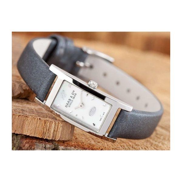 Dámské hodinky Haas & Cie FINA šedé hranatý ciferník