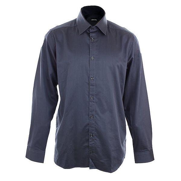 Pánská tmavě modrá obleková košile Pietro Filipi