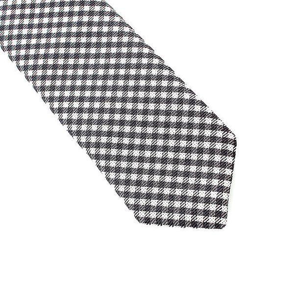 Pánská černo-bílá kostičkovaná kravata Pietro Filipi