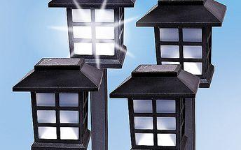 Solární lampa, lucerna, sada 4 ks